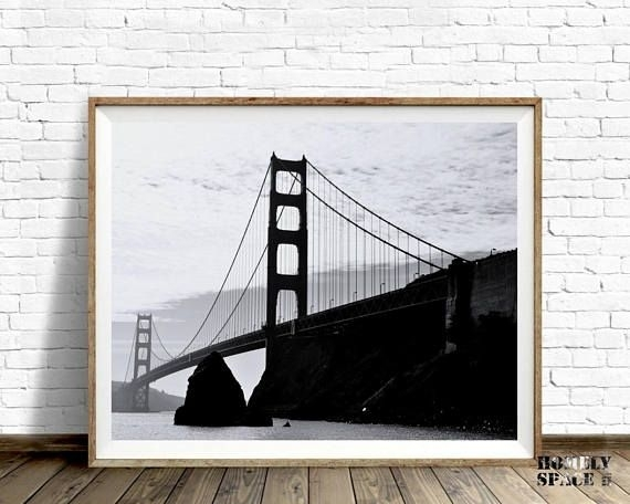 Large Wall Art Print San Francisco Black And White Art Print Inside San Francisco Wall Art (Image 11 of 25)