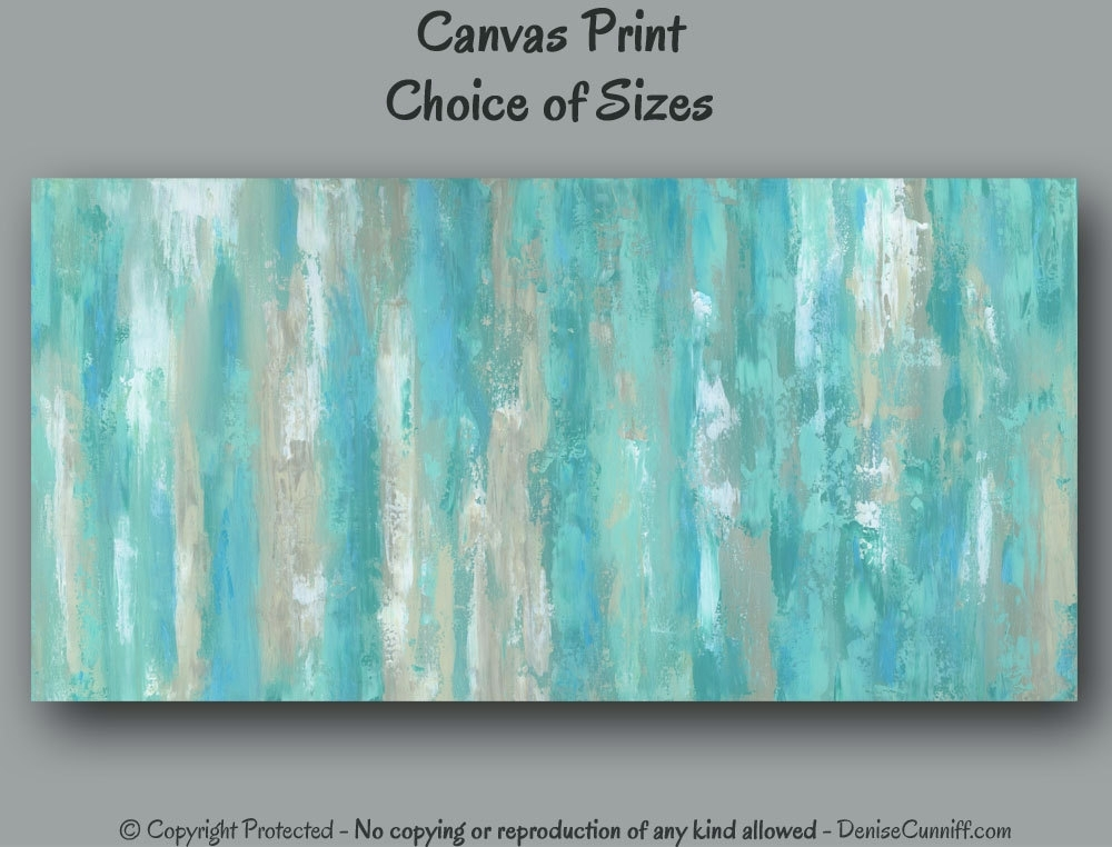 Large Wall Art Teal Abstract Canvas Art Print Teal Home – Super Tech For Oversized Teal Canvas Wall Art (View 9 of 25)
