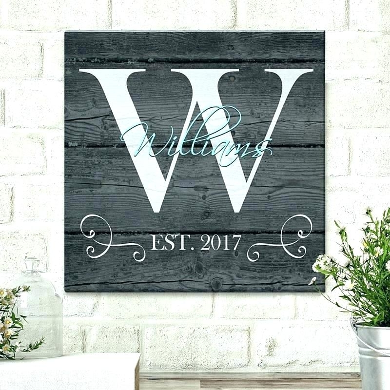 Last Name Wall Art Personalized Last Name Canvas Wall Art Wall Art In Personalized Wall Art (Image 5 of 10)