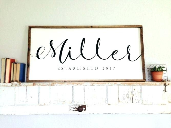 Last Name Wall Decorations Wall Decor A Family Name Monogram Initial Within Family Name Wall Art (View 20 of 20)