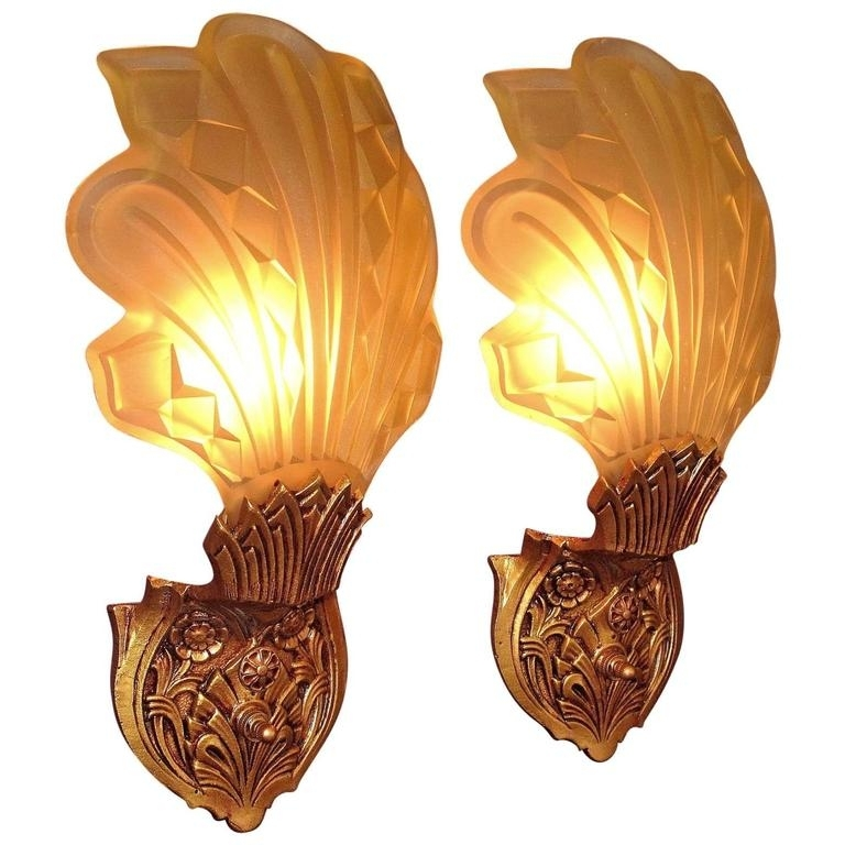 Late 1920S Early 1930S Art Deco Wall Sconces For Sale At 1Stdibs With Regard To Art Deco Wall Sconces (Image 15 of 25)