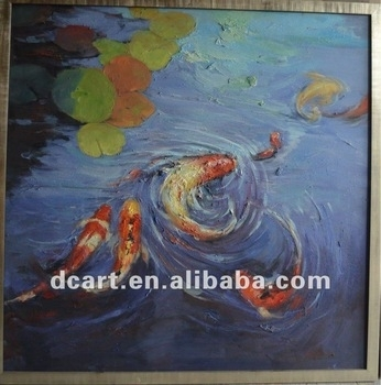 Latest New Design Of Fish Painting Oil Painting Wall Decor – Buy Sea Regarding Fish Painting Wall Art (Image 20 of 25)
