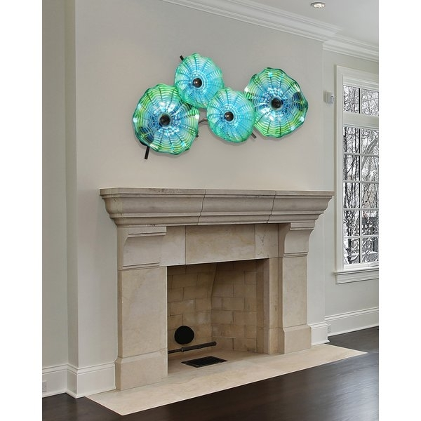 Latitude Run 4 Piece Hand Blown Glass Wall Décor & Reviews | Wayfair Throughout Blown Glass Wall Art (Image 19 of 25)