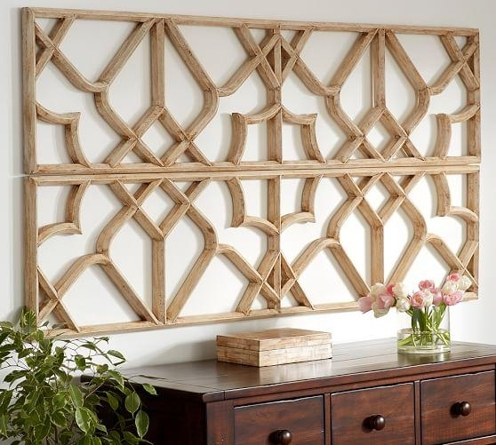 Lattice Tan Wall Art For Moroccan Wall Art (View 19 of 25)