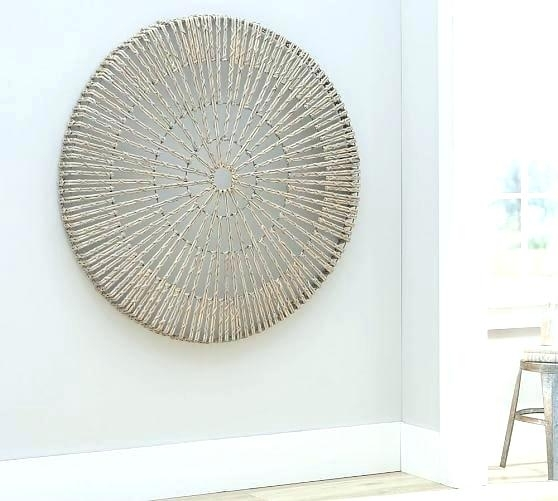 Lattice Wall Art Wall Art Pottery Barn Woven Wheel Wall Art Lattice Intended For Pottery Barn Wall Art (View 8 of 10)