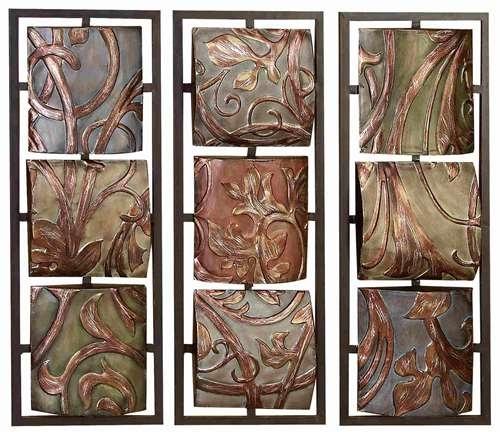 Leaf & Vine Textures – Floral Metal Wall Art Panels Regarding Metal Wall Art Panels (View 8 of 20)