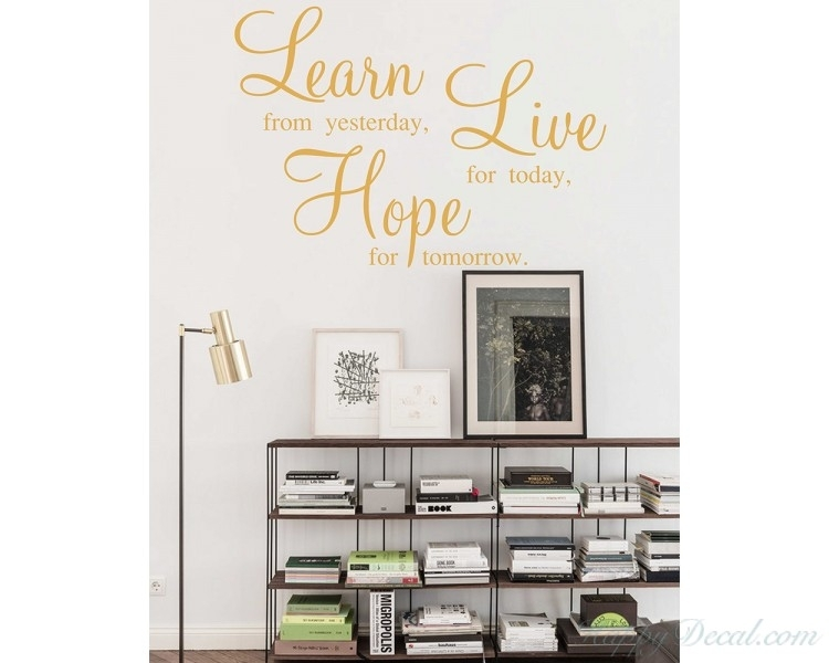 Learn Live Hope Wall Stickers – Quotes Vinyl Office Wall Art Throughout Motivational Wall Art (Image 12 of 25)