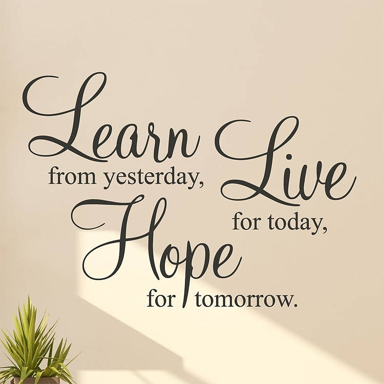 Learn Live Hope' Wall Stickers Quotesparkins Interiors For Quote Wall Art (Image 11 of 25)
