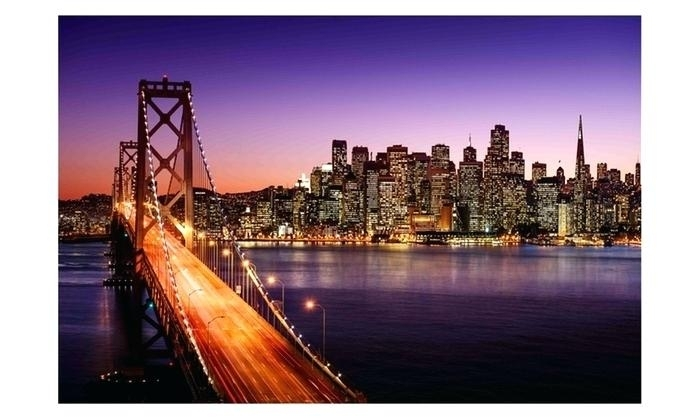 Led Lighted Famous Bay Bridge Canvas Wall Art San Francisco Wall Art Throughout San Francisco Wall Art (Image 12 of 25)