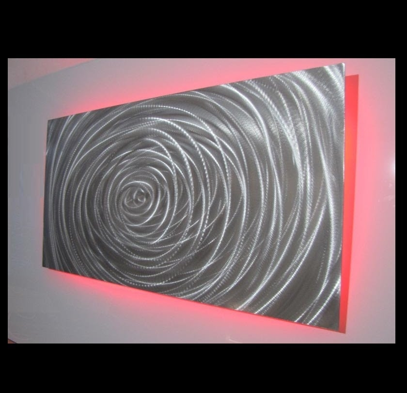 Led Lighting Metal Wall Art Designs – Youtube In Led Wall Art (View 13 of 20)