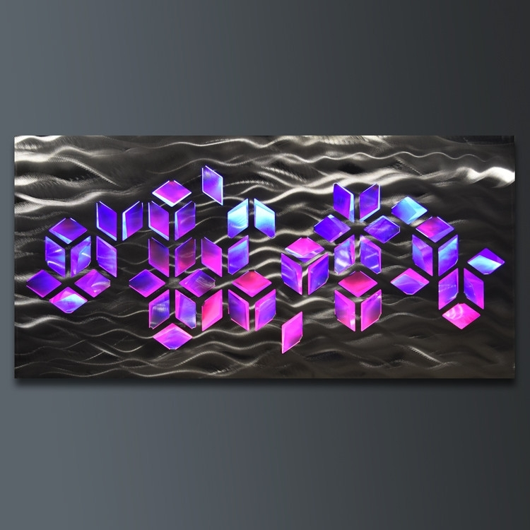 Led Wall Art Wall Art Designs Led Abstract Geomatric Design Metal On Regarding Led Wall Art (View 20 of 20)
