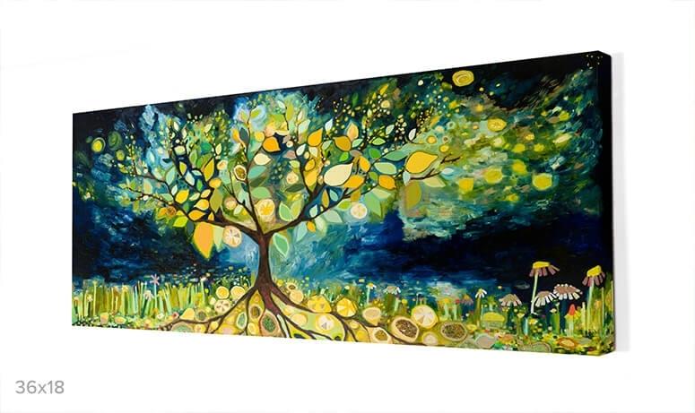 Lemon Tree Landscape, Nature Canvas Wall Art | Greenbox Regarding Lemon Wall Art (View 20 of 20)