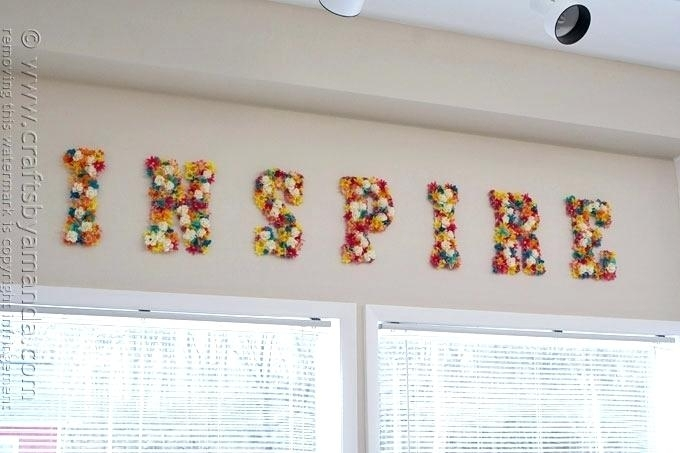 Letter Decor For Wall Wall Letters Decor Awesome Decoration Letter Regarding Letter Wall Art (Image 8 of 25)
