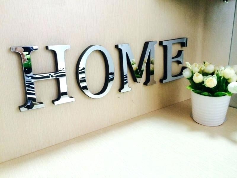 Letter Decoration For Wall Wooden Letters Decoration Wall Decor Wood For Letter Wall Art (Image 9 of 25)