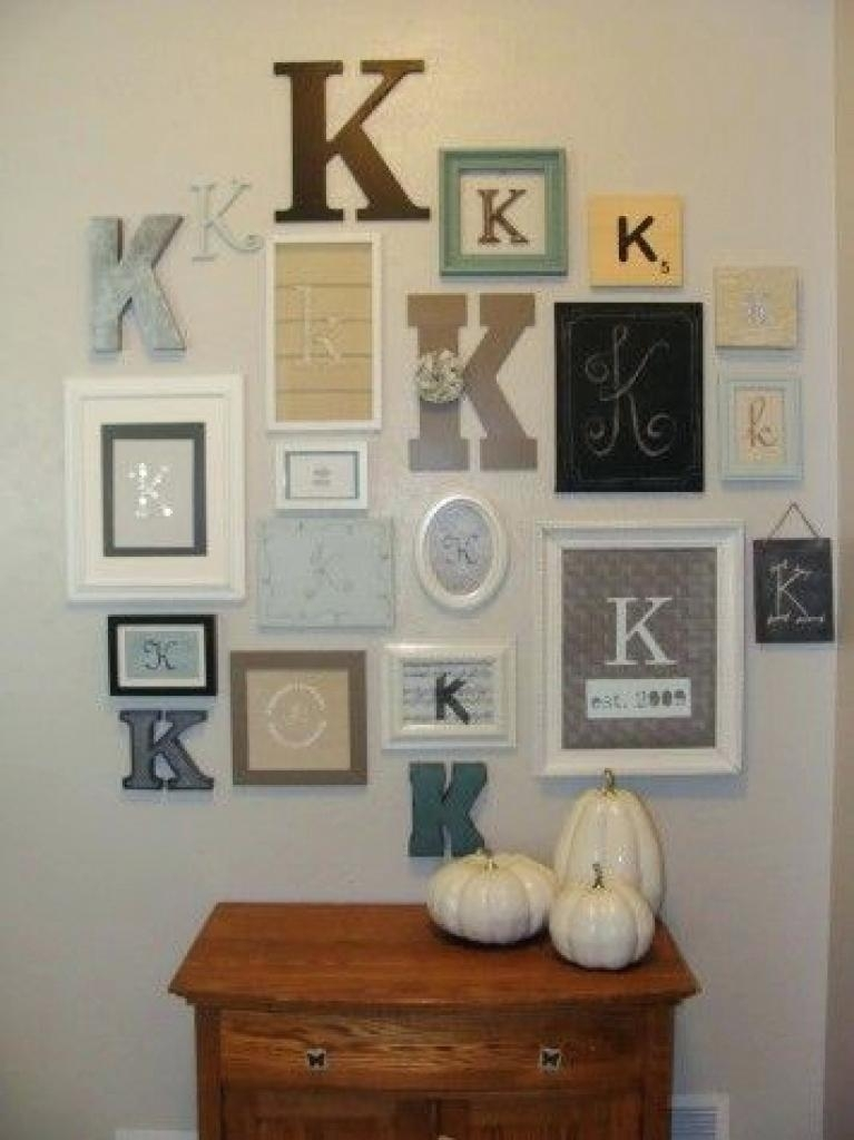 Letter Decorations For Walls Wooden Letter Decor Medium Size Of Intended For Letter Wall Art (Image 10 of 25)