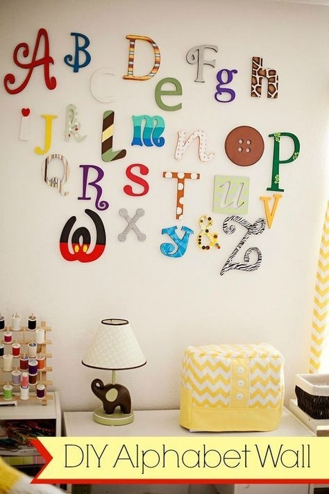 Letter E Room Decor Beautiful Alphabet Letters For Room Decorations For Alphabet Wall Art (Image 16 of 25)