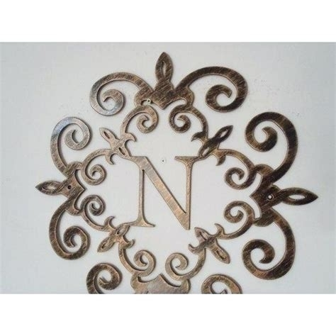 Letter N Wall Decor – Littlethaimidtown Within Metal Letter Wall Art (View 25 of 25)