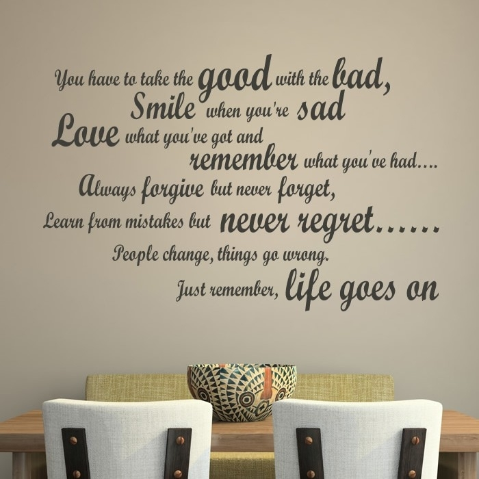 Life & Inspirational Wall Stickers | Iconwallstickers.co (View 14 of 25)
