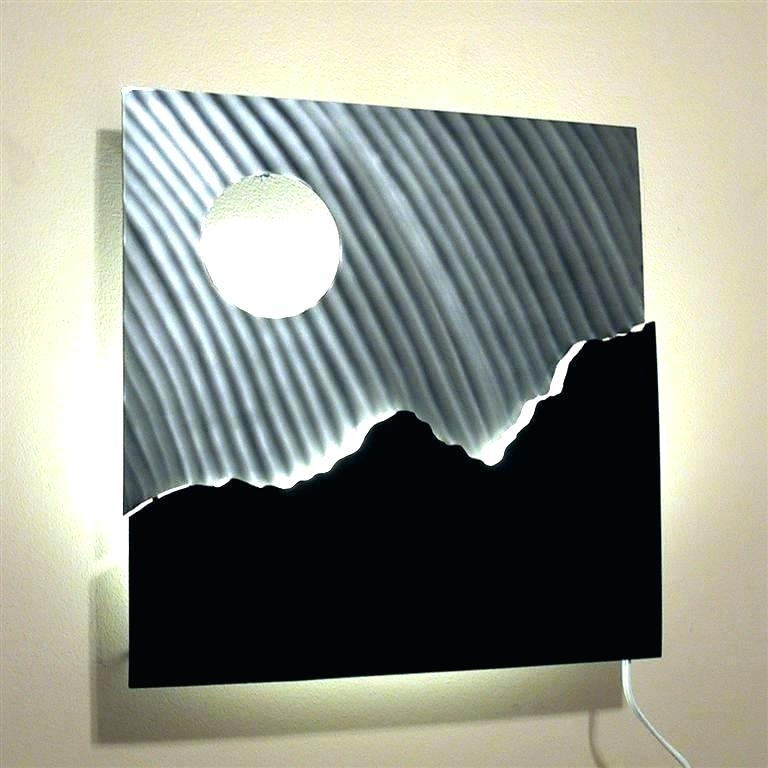 Lighted Wall Art Decor Lighted Wall Art Decor Awesome Led Hessian In Lighted Wall Art (View 15 of 20)