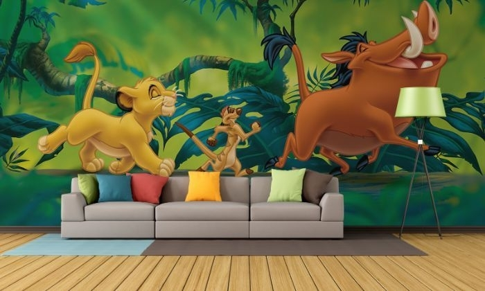 Lion King Paper Wallpaper | Homewallmurals For Lion King Wall Art (Image 8 of 25)