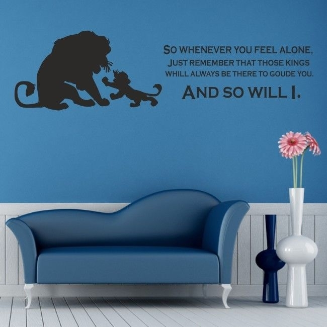 Lion King Wall Art Sticker Disney Kids Nursery Bedroom Decal Quote Within Lion King Wall Art (View 7 of 25)