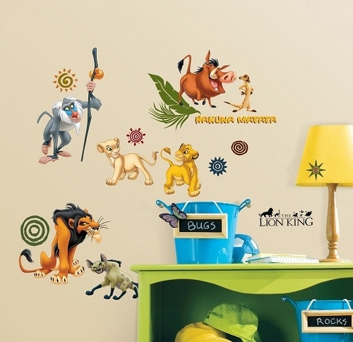 Lion King Wall Stickers – Disney Lion King Wall Art Stickers Regarding Lion King Wall Art (View 3 of 25)