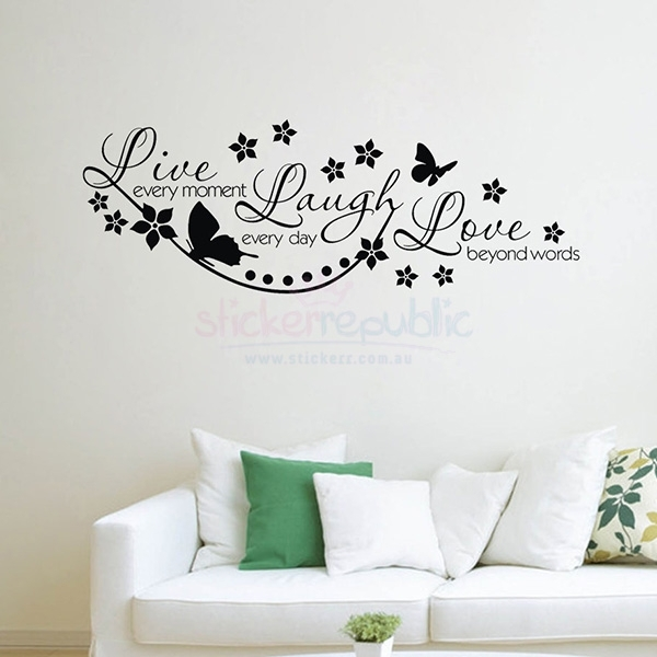 Live Laugh Love Dream Wall Decor Live Love Laugh Wall Clock Live With Regard To Live Laugh Love Wall Art (Image 8 of 25)