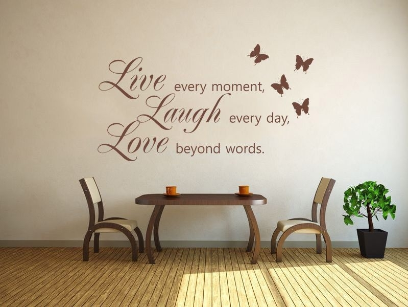 Live Laugh Love Wall Art Sticker  Wall Sticker Decal Vinyl Transfer Intended For Live Laugh Love Wall Art (Image 14 of 25)