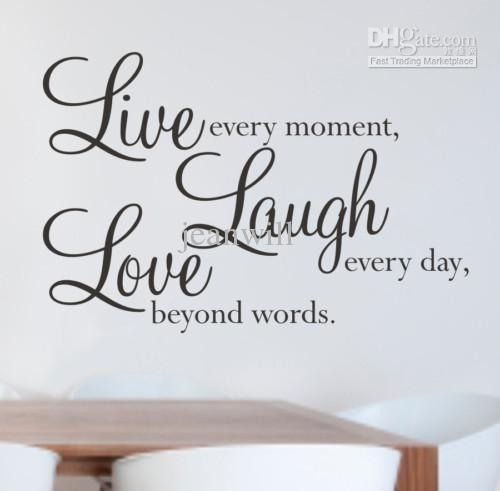Live Laugh Love Wall Quote Decal Decor Sticker Lettering Saying Inside Live Laugh Love Wall Art (Image 18 of 25)