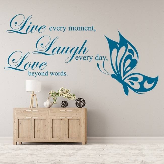 Live Laugh Love Wall Sticker Love Wall Art Within Live Laugh Love Wall Art (Image 20 of 25)