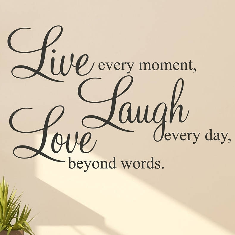 Live Laugh Love Words Wall Art Sticker Pertaining To Live Laugh Love Wall Art (View 5 of 25)