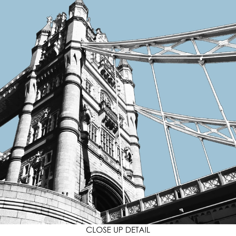 London Prints – London Wall Art – Tower Bridge – London Cityscape Throughout London Wall Art (View 25 of 25)