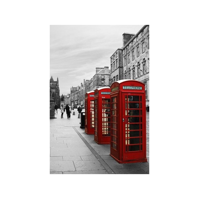 London Wall Art Canvas Print – Red Telephone Booths – Home Photo With London Wall Art (View 21 of 25)