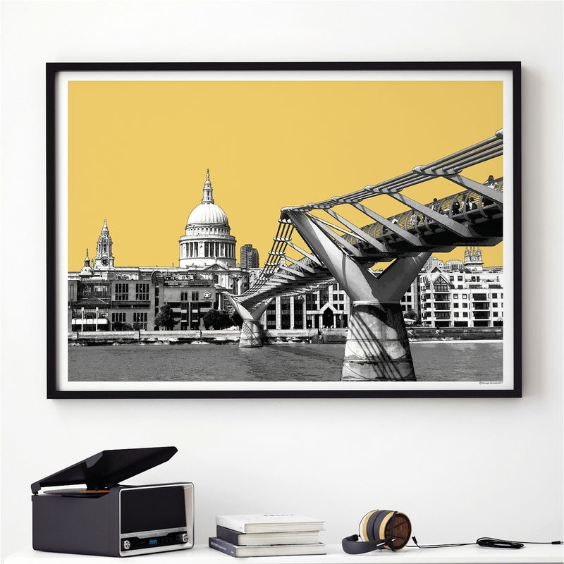 London Wall Art Print – London Skyline – St Paul's Cathedral Throughout London Wall Art (View 5 of 25)