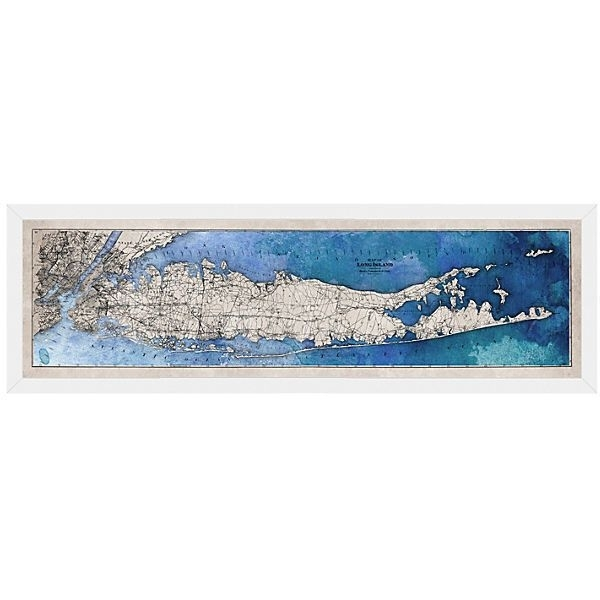 Long Island Map Maps ($329) ❤ Liked On Polyvore Featuring Home Throughout Long Island Wall Art (View 5 of 25)