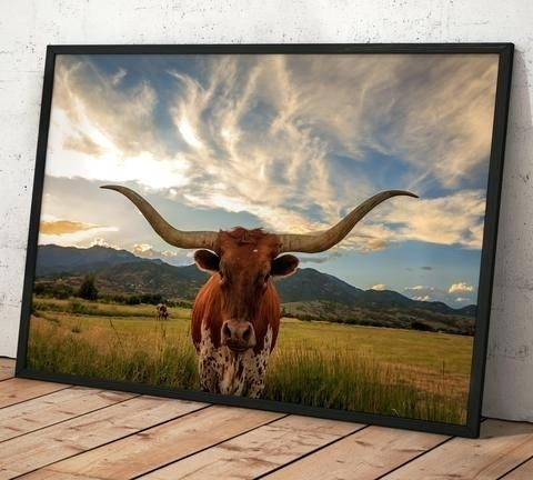 Longhorn Wall Art Nice Design Longhorn Wall Decor With Animal Head Regarding Texas Wall Art (Image 6 of 25)