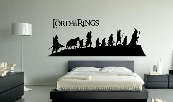 Lord Of The Rings Vinyl Wall Art Decal Sticker 002Directdecals Regarding Lord Of The Rings Wall Art (View 8 of 20)