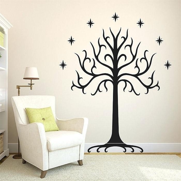 Lotr Wall Decal Also White Tree Of Vinyl Wall Art Decal Lord Of The In Lord Of The Rings Wall Art (View 16 of 20)