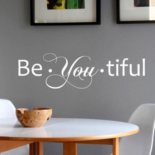 Lovable Brilliant Wall Decorations Goodly Art Words Stickers Word With Word Wall Art (Image 8 of 20)