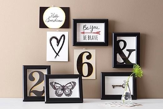 Lovable Pleasant Frames Wall Decor Black Picture Frames Wall Art Regarding Ikea Wall Art (Image 7 of 10)