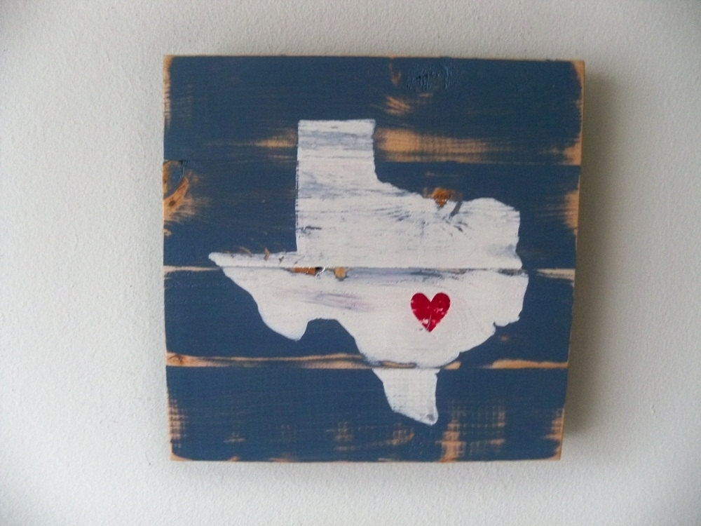 Love Austin Texas Vintage Texas Wall Art – Wall Decoration And Wall Throughout Texas Wall Art (View 10 of 25)