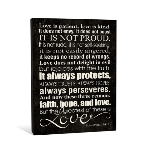 Love Is Patient Canvas Wall Art | Create Art And Gifts For Love Is Patient Wall Art (Image 4 of 25)