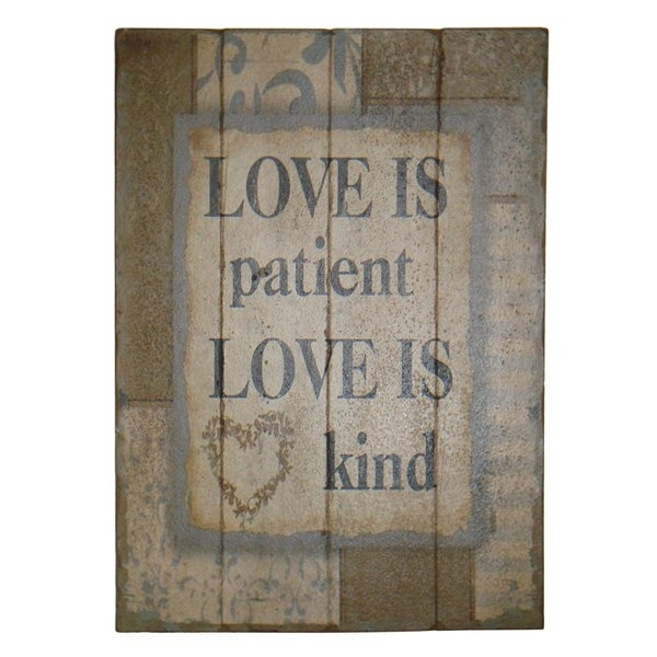 Love Is Patient Love Is Kind | Wayfair With Love Is Patient Wall Art (Image 6 of 25)