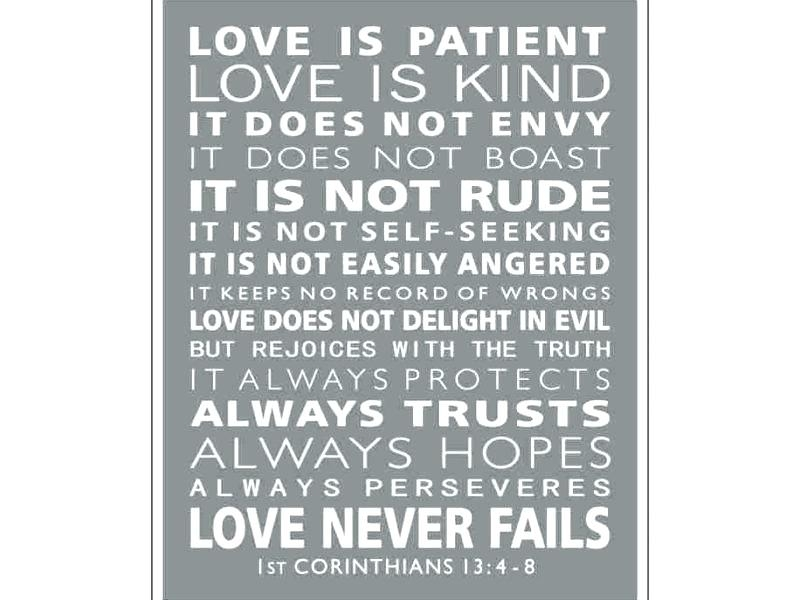 Love Is Patient Wall Art – Languageblag Regarding Love Is Patient Wall Art (View 15 of 25)