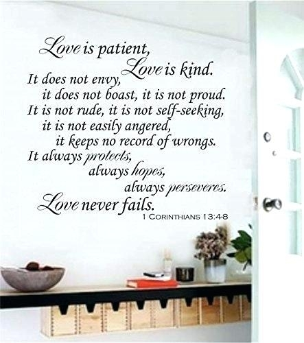 Love Is Patient Wall Art Love Is Patient Love Is Kind Wall Art Love In Love Is Patient Wall Art (View 14 of 25)