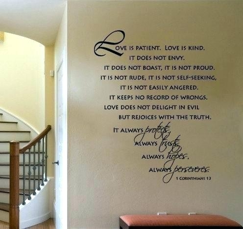Love Is Patient Wall Art Love Is Patient Wall Art Like This Item Inside Love Is Patient Wall Art (Image 17 of 25)