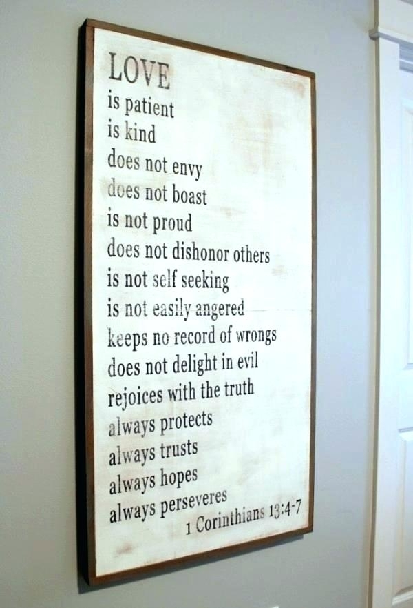 Love Is Patient Wall Decor Love Is Patient Wall Art Love Is Patient With Love Is Patient Wall Art (Image 18 of 25)