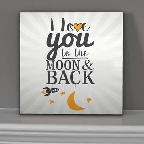 "Love You To The Moon & Back"" – Wall Art 