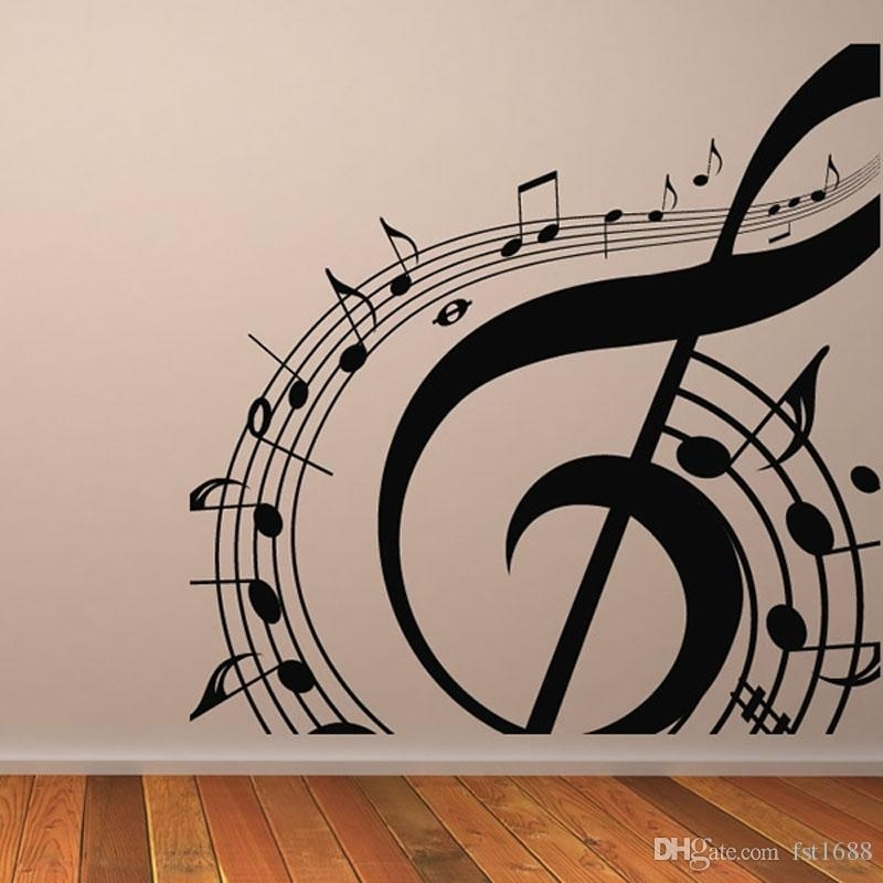 M 003 Diy Musical Notation Home Decor Music Wall Sticker Removable With Music Wall Art (View 10 of 10)