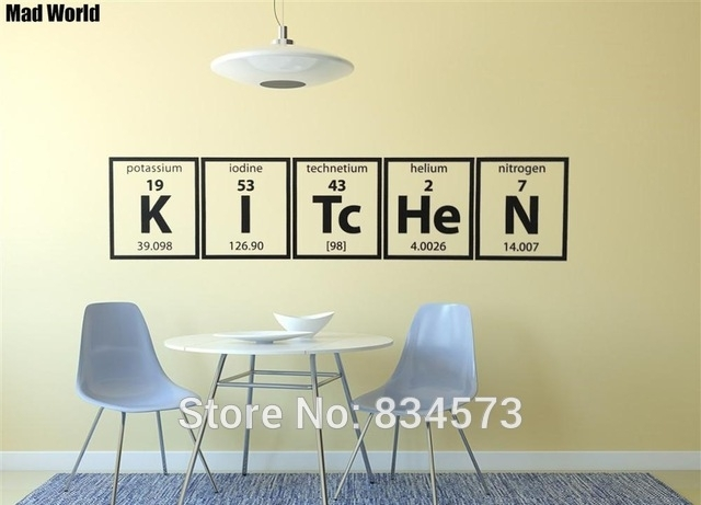 Mad World Periodic Table Of Elements Kitchen Cooking Wall Art Inside Periodic Table Wall Art (Image 4 of 20)